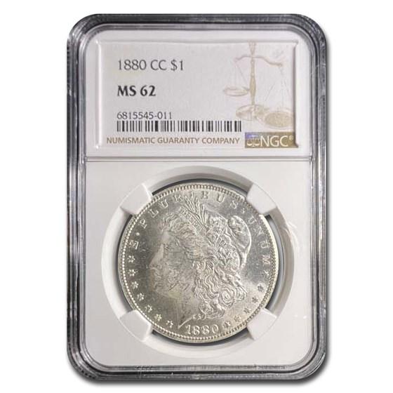 1880-CC Morgan Dollar MS-62 NGC