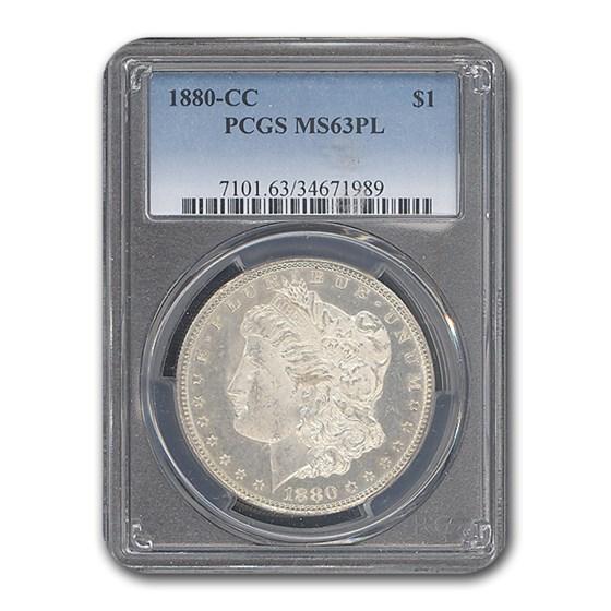 1880-CC Morgan Dollar MS-63 PCGS (PL)