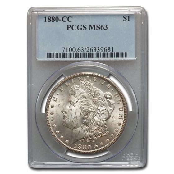 1880-CC Morgan Dollar MS-63 PCGS