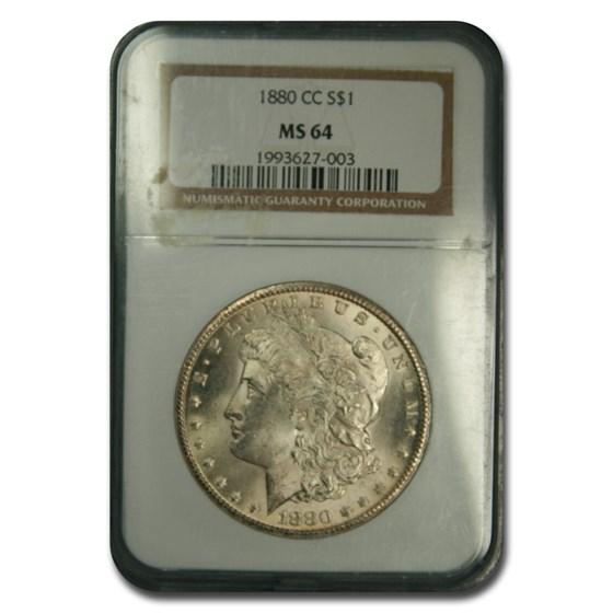 1880-CC Morgan Dollar MS-64 NGC