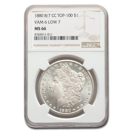 1880-CC Morgan Dollar MS-66 NGC (8/7 VAM-6 Low 7 Top 100)