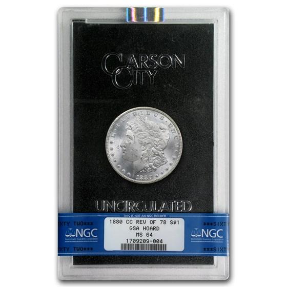 1880-CC Morgan Dollar Rev of 78 MS-64 NGC (GSA)