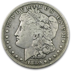 1880-CC Morgan Dollar Rev of 78 VF
