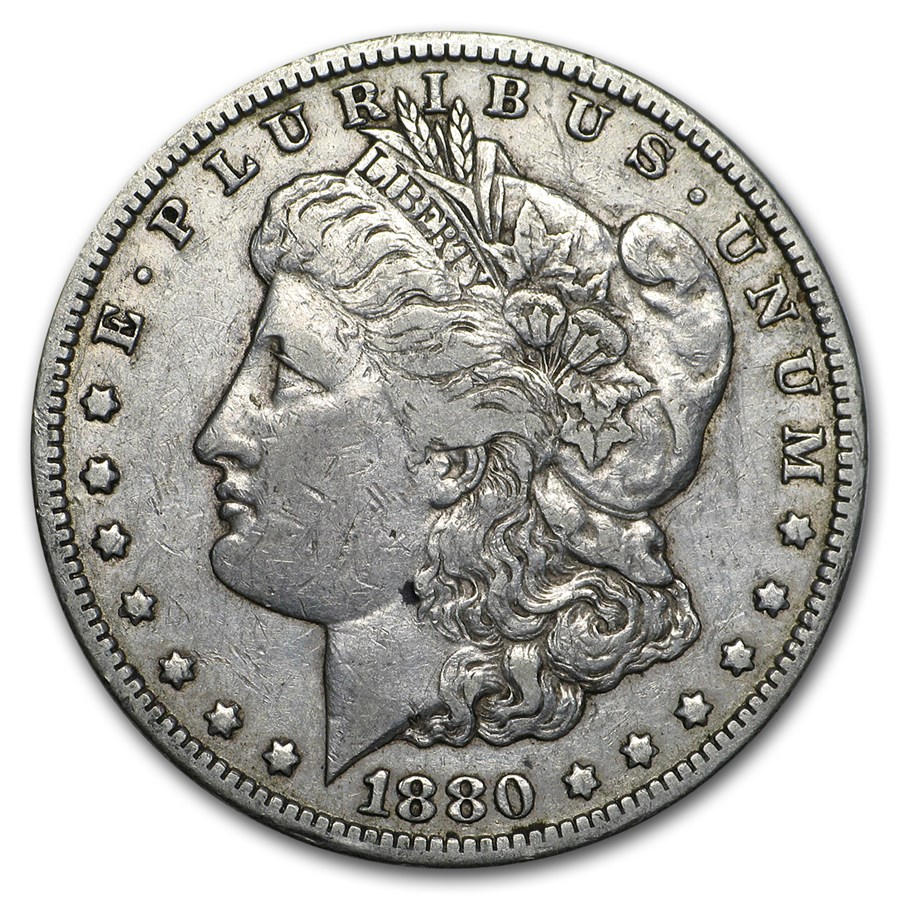 1880-CC Morgan Dollar Rev of 78 XF