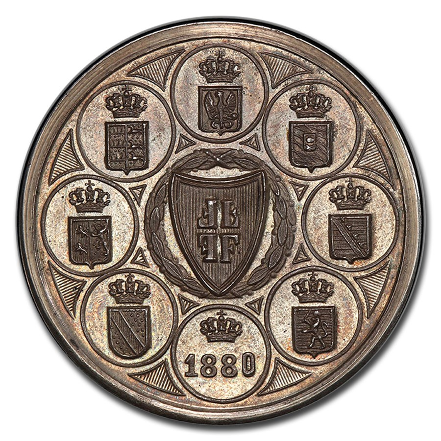 1880 German States Frankfurt am Main Silver Medal SP-66 PCGS