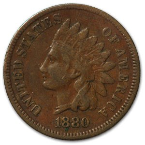 1880 Indian Head Cent VF