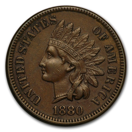 1880 Indian Head Cent XF