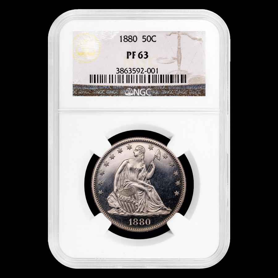 1880 Liberty Seated Half Dollar PF-63 NGC
