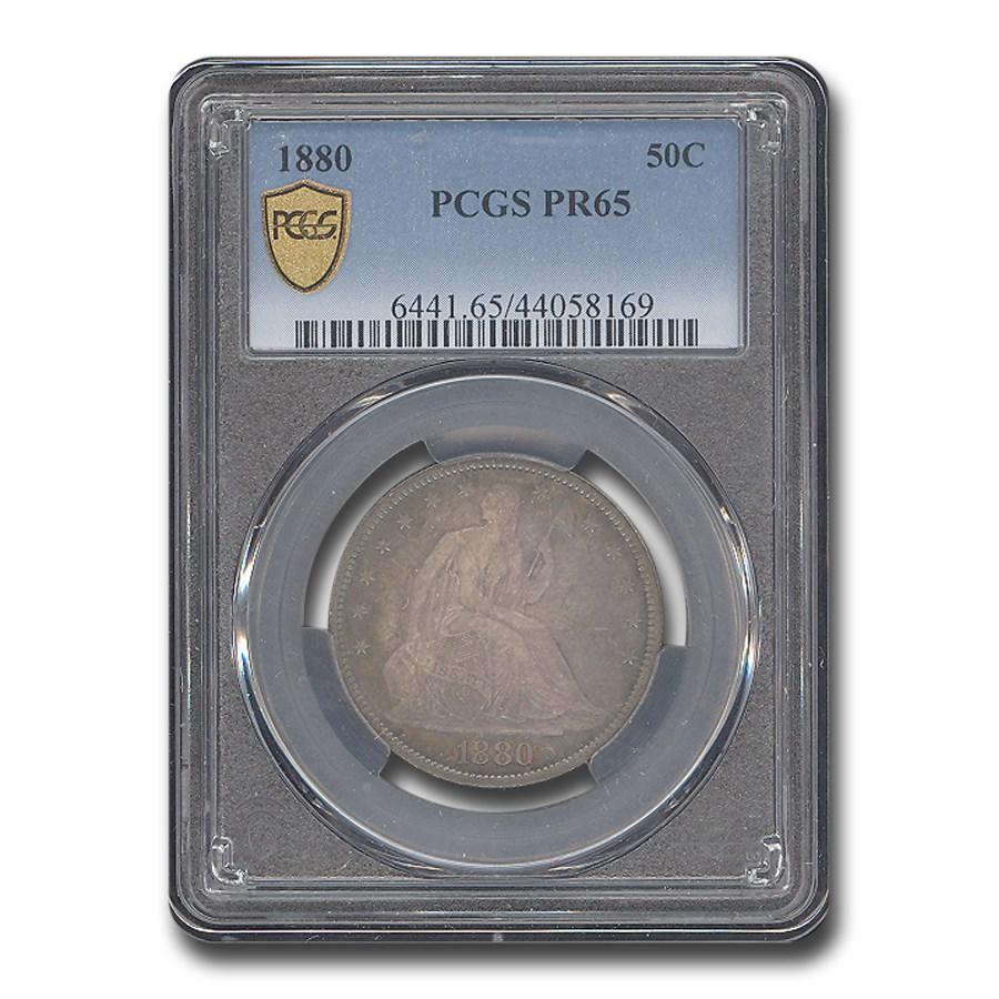1880 Liberty Seated Half Dollar PR-65 PCGS