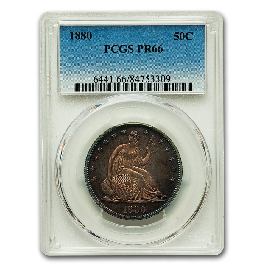 1880 Liberty Seated Half Dollar PR-66 PCGS