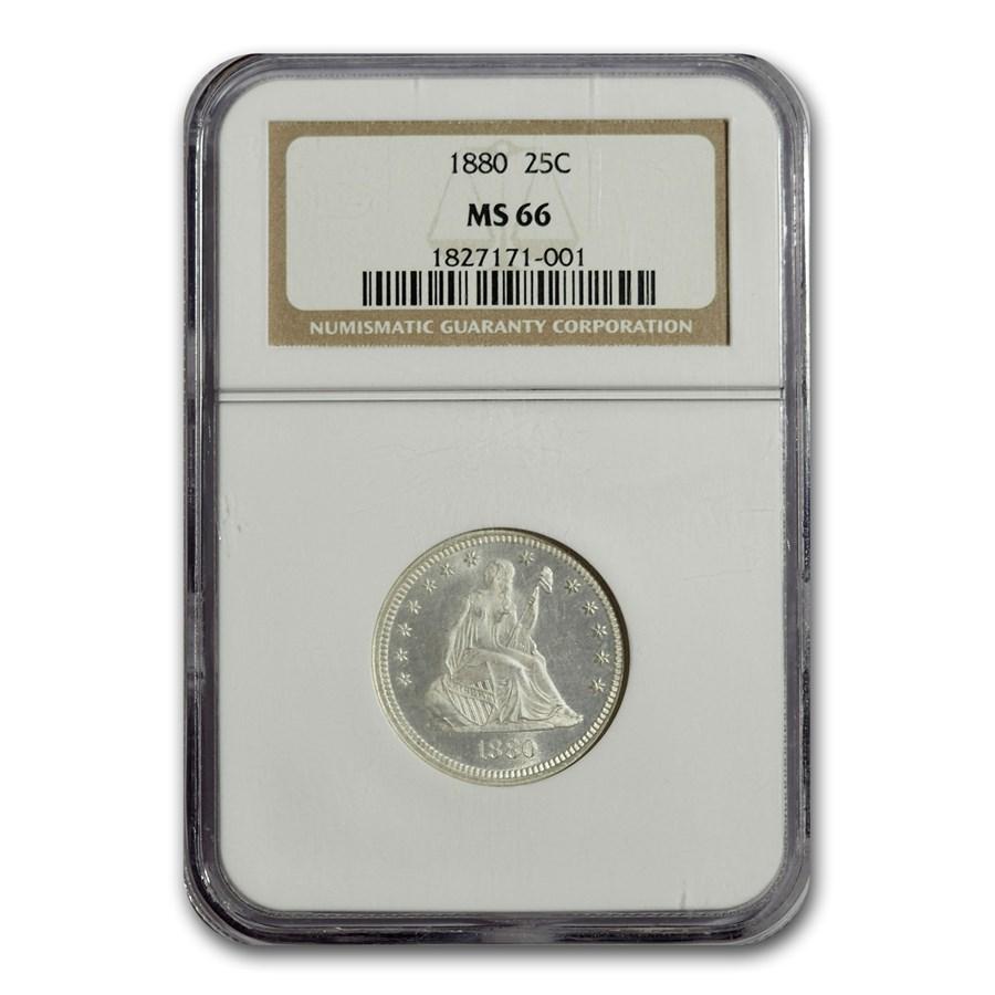 1880 Liberty Seated Quarter MS-66 NGC