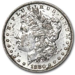 1880 Morgan Dollar -AU Details Polished (VAM-6, Spikes Overdate)