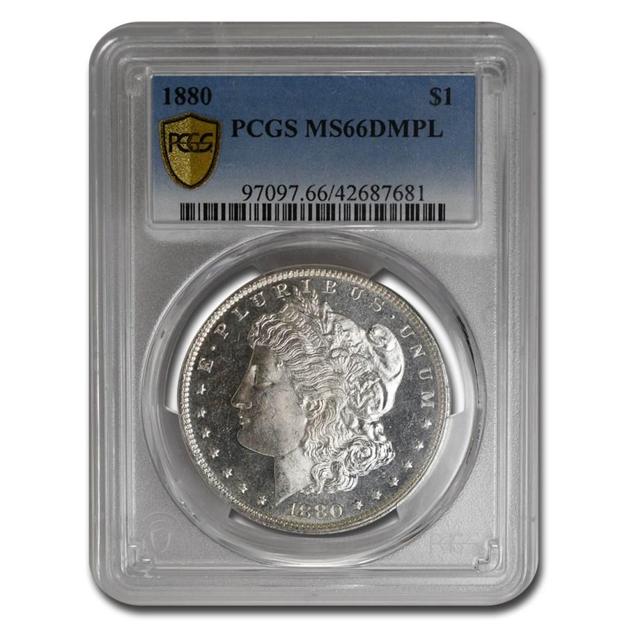 1880 Morgan Dollar DMPL MS-66 PCGS