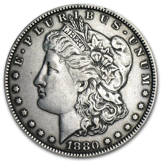1880 Morgan Dollar Knobbed 8 XF (VAM-1A, Top-100)