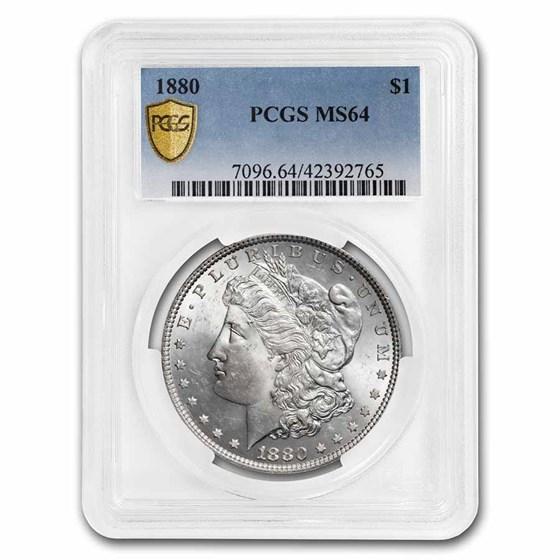 1880 Morgan Dollar Mint State-64 PCGS