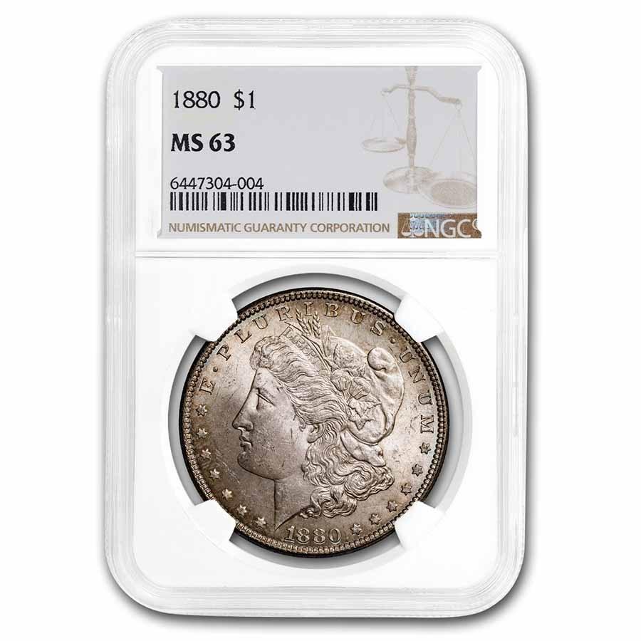 1880 Morgan Dollar MS-63 NGC