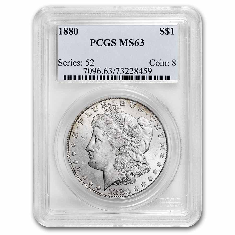 1880 Morgan Dollar MS-63 PCGS