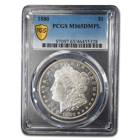1880 Morgan Dollar MS-65 DMPL PCGS