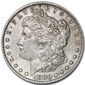 1880 Morgan Dollar VG/VF