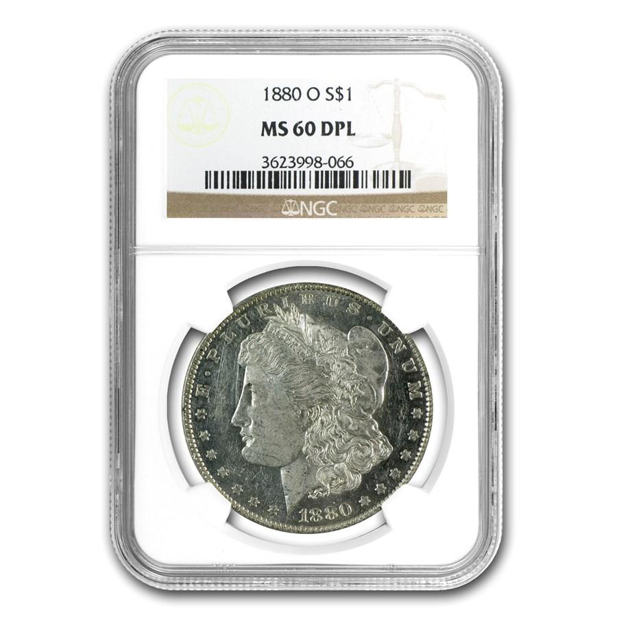 1880-O Morgan Dollar MS-60 DPL NGC