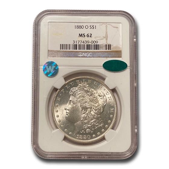 1880-O Morgan Dollar MS-62 NGC CAC
