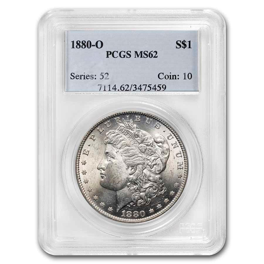 1880-O Morgan Dollar MS-62 PCGS