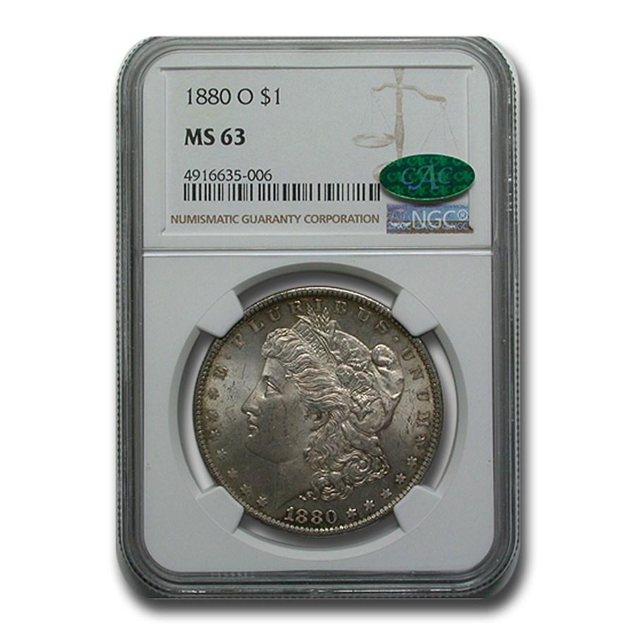 1880-O Morgan Dollar MS-63 NGC (CAC)