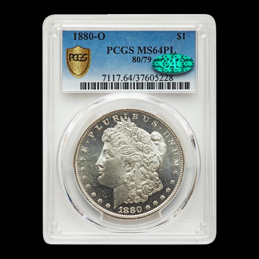 1880-O Morgan Dollar MS-64 PL PCGS CAC (80/79)