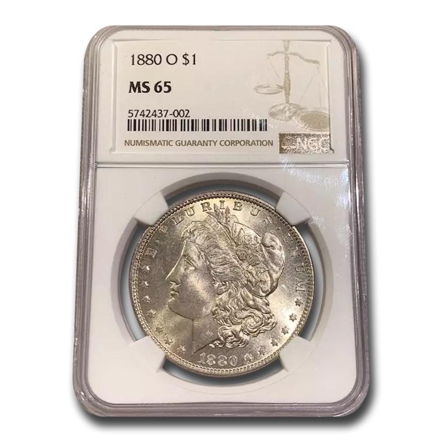 1880-O Morgan Dollar MS-65 NGC