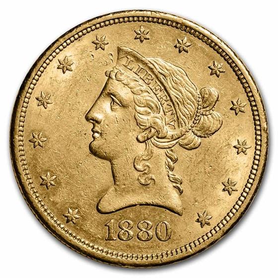 1880-S $10 Liberty Gold Eagle AU