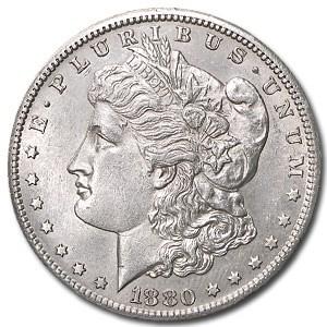 1880-S Morgan Dollar AU