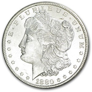 1880-S Morgan Dollar BU (VAM-12, 80/79 Checkmark, Hit List-40)