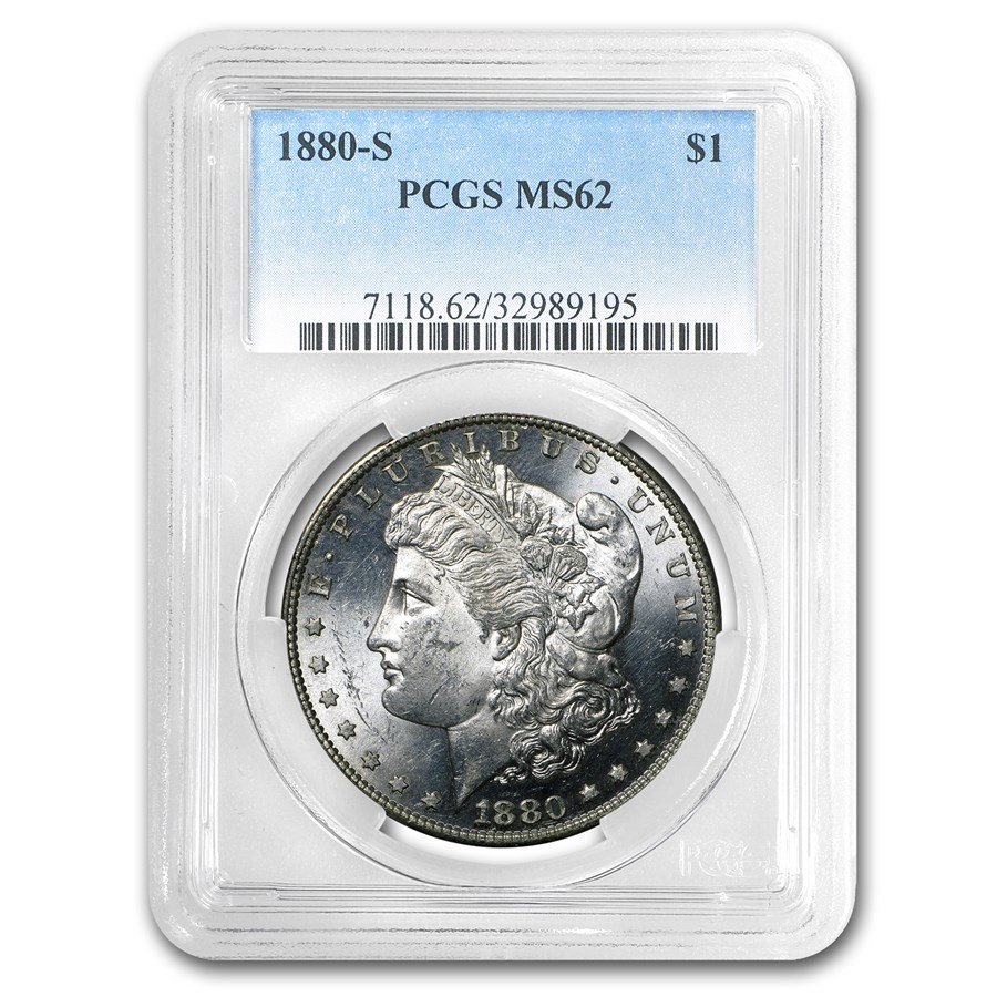 1880-S Morgan Dollar MS-62 PCGS