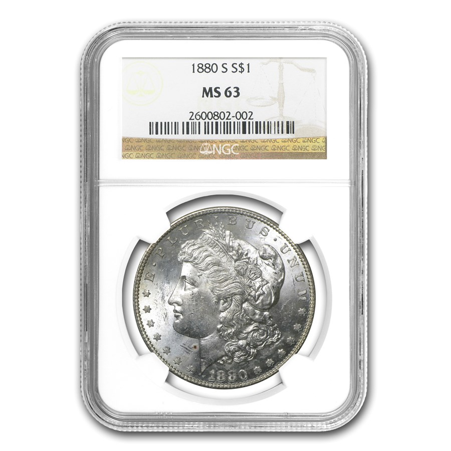1880-S Morgan Dollar MS-63 NGC