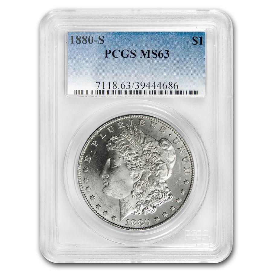 1880-S Morgan Dollar MS-63 PCGS