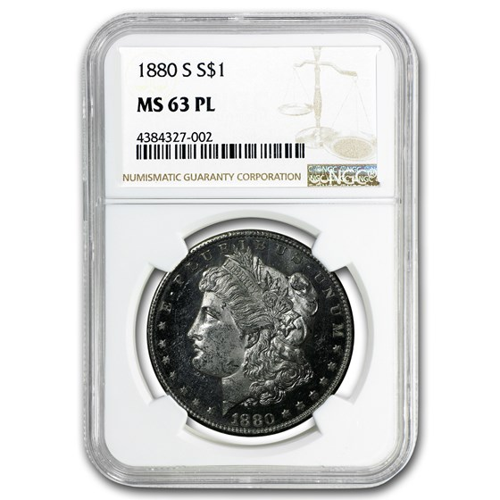 1880-S Morgan Dollar MS-63 PL NGC