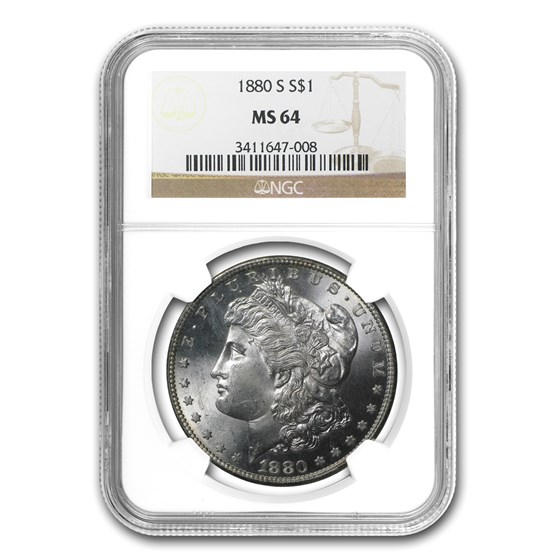 1880-S Morgan Dollar MS-64 NGC