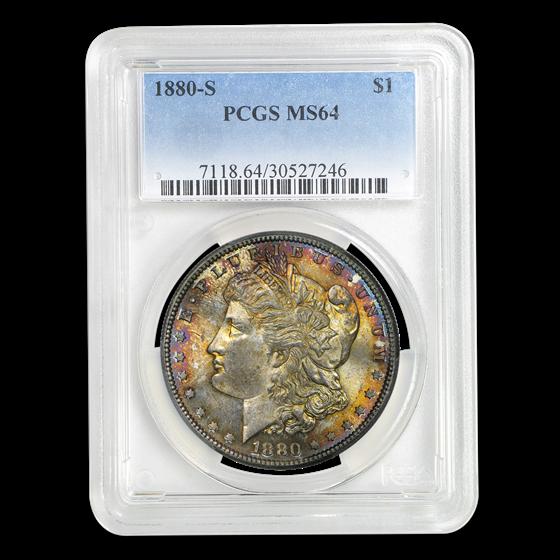 1880-S Morgan Dollar MS-64 PCGS (Beautifully Toned)