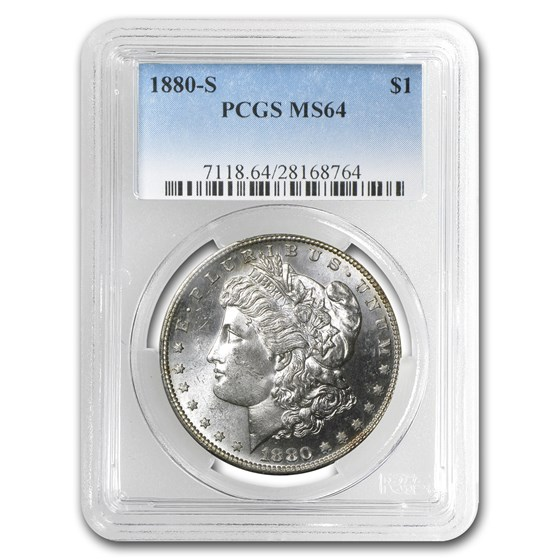 1880-S Morgan Dollar MS-64 PCGS