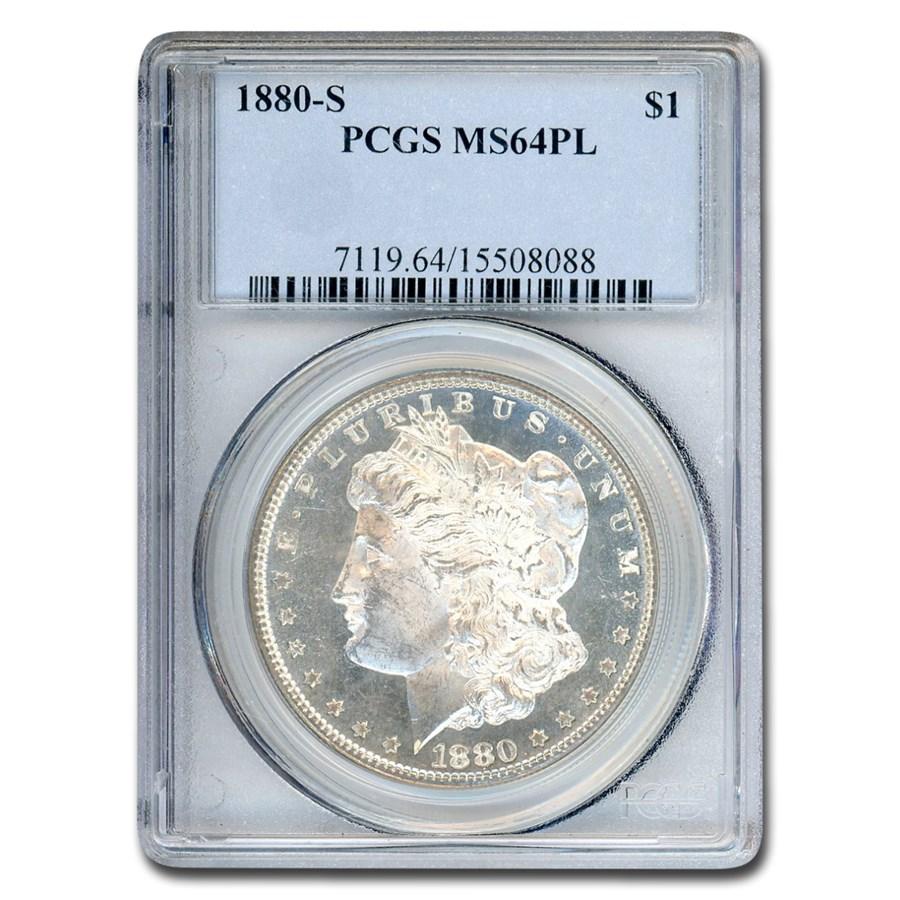 1880-S Morgan Dollar MS-64 PL PCGS