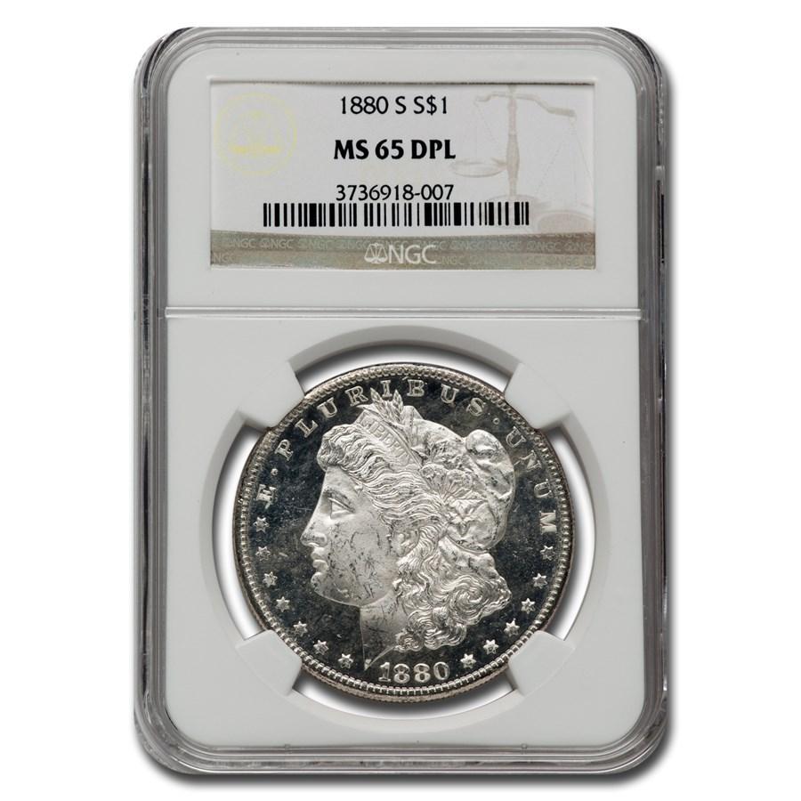 1880-S Morgan Dollar MS-65 DPL NGC