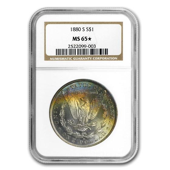 1880-S Morgan Dollar MS-65* NGC (Star Designation)
