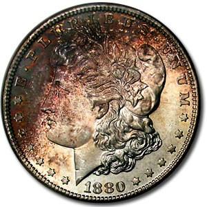 1880-S Morgan Dollar MS-65 NGC (Unique Smoke Toning Obv)