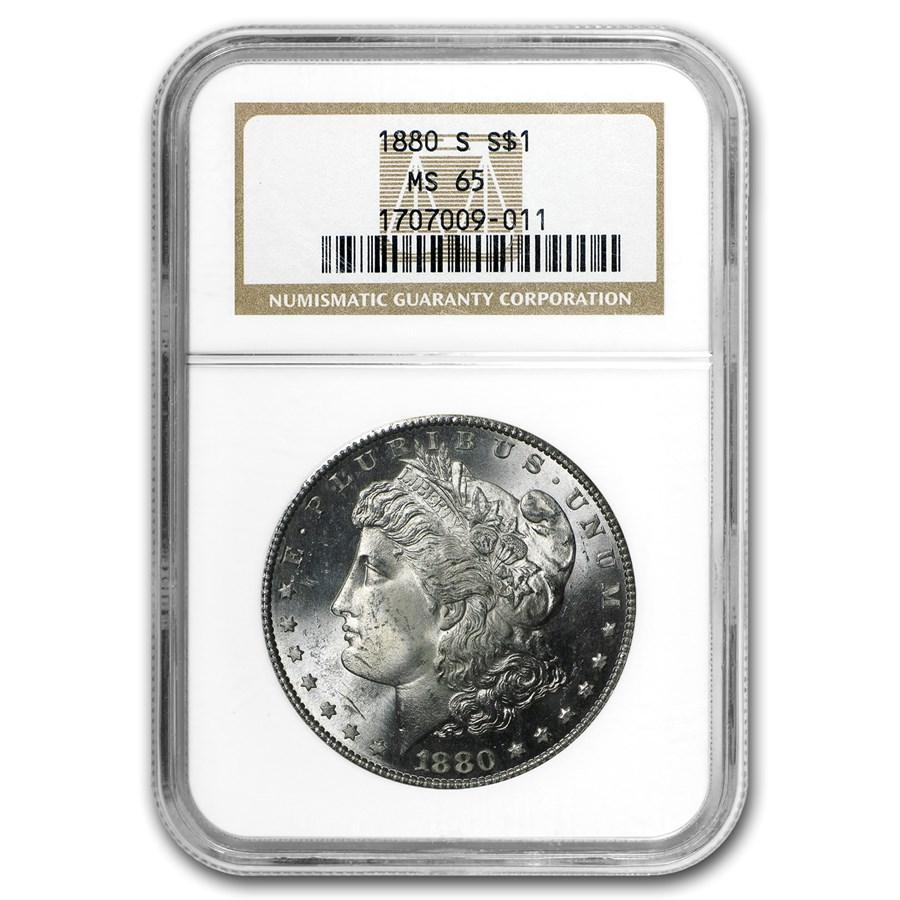 1880-S Morgan Dollar MS-65 NGC