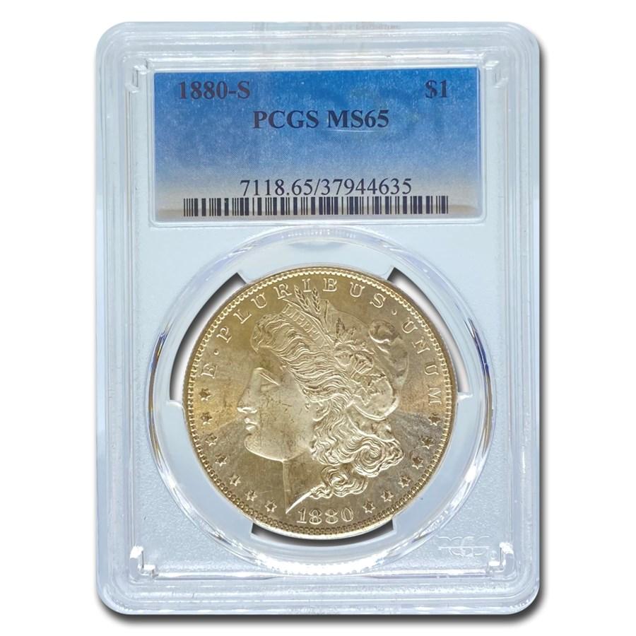 1880-S Morgan Dollar MS-65 PCGS