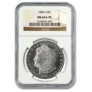 1880-S Morgan Dollar MS-65* PL Proof Like NGC (Star Designation)