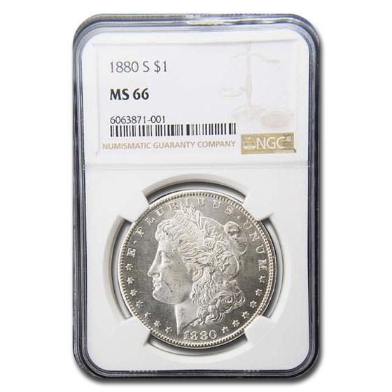 1880-S Morgan Dollar MS-66 NGC
