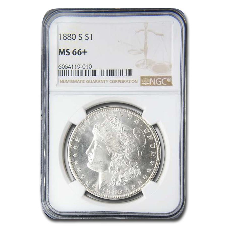 1880-S Morgan Dollar MS-66+ NGC