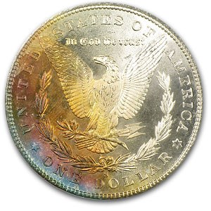 1880-S Morgan Dollar MS-66 PCGS (Sunset Rev Toning)