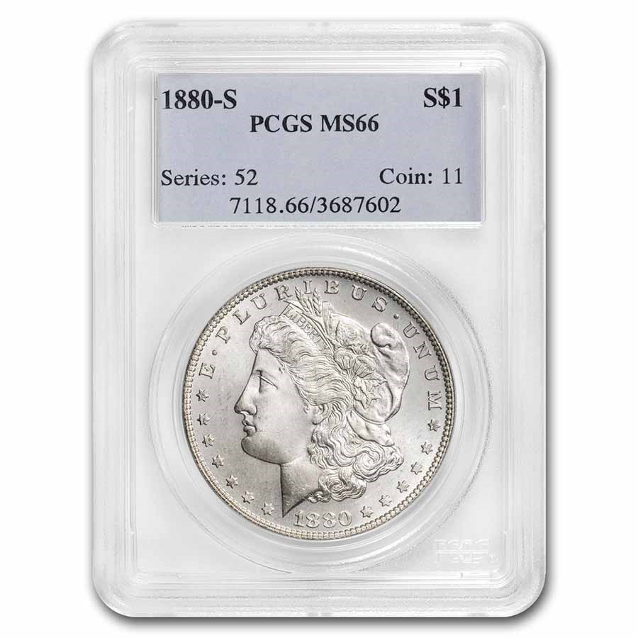 1880-S Morgan Dollar MS-66 PCGS